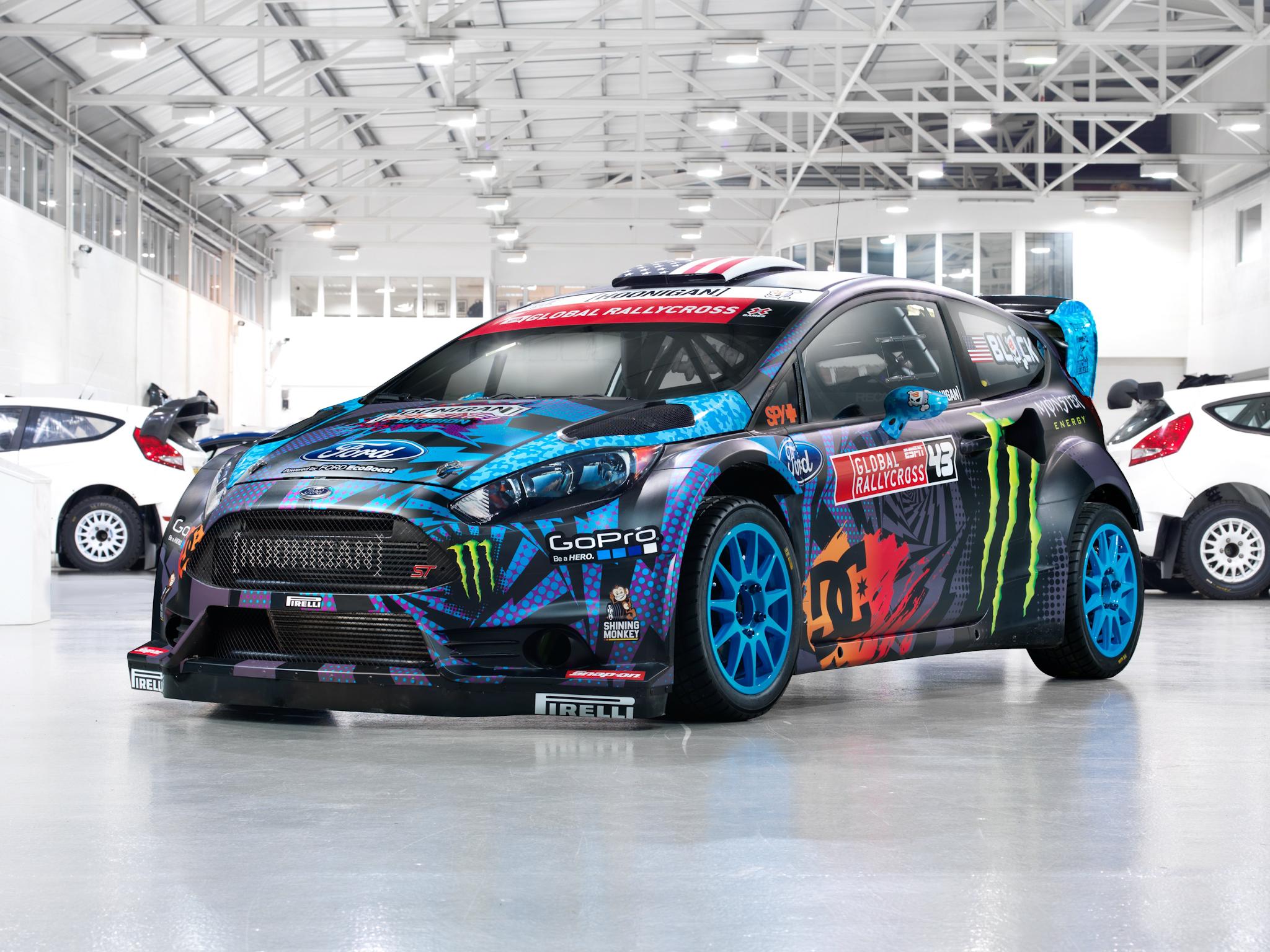 Fiesta S T RX43 Rallycross race racing tuning wallpaper background 2048x1536