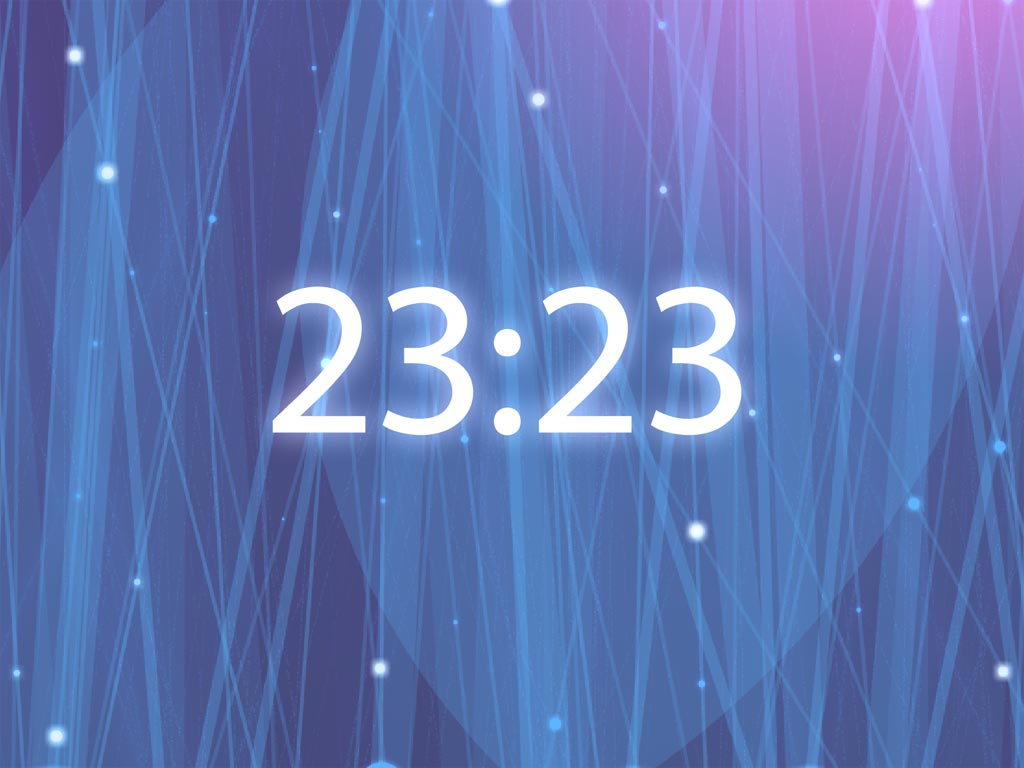 Radiating Clock will brighten up your desktop and fill your time 1024x768