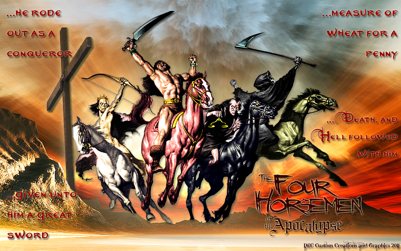 the four horsemen by fractual customization wallpaper fantasy 2013 1280x800