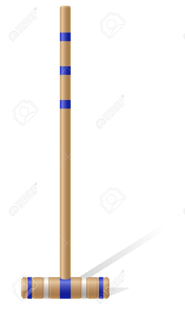 Croquet Mallet Vector Illustration Isolated On White Background 779x1300