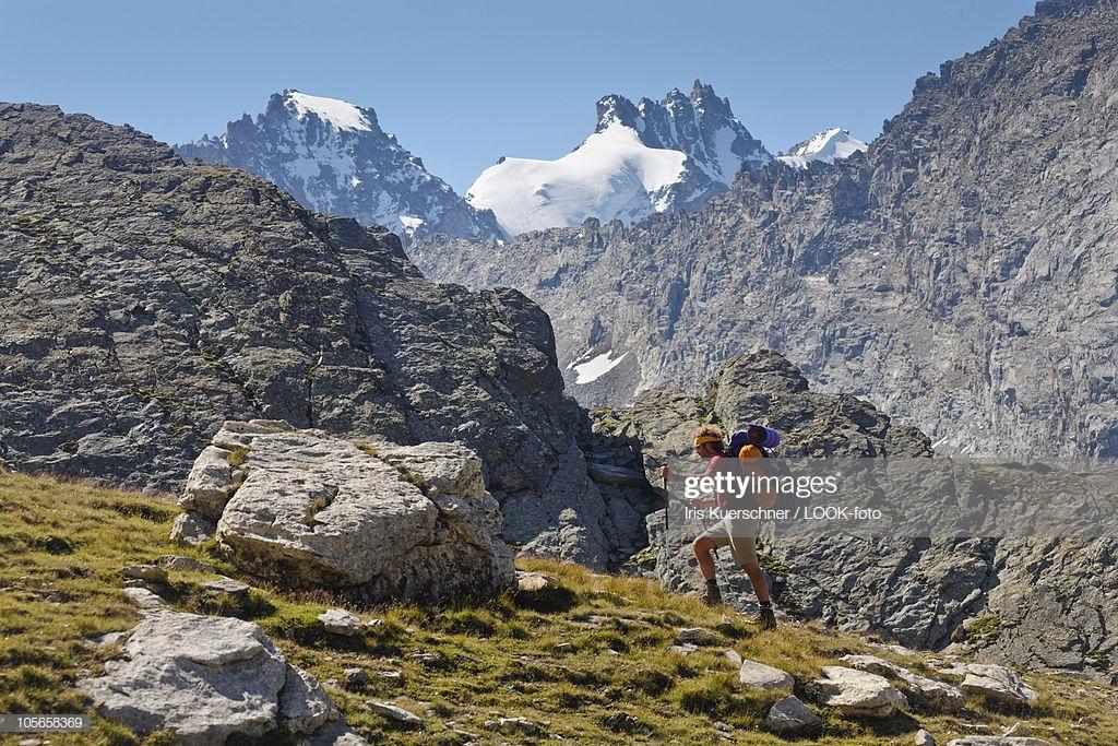 Hiker Ascenting To Bocca Di Montandayne Piccolo Paradiso And Gran 1024x683