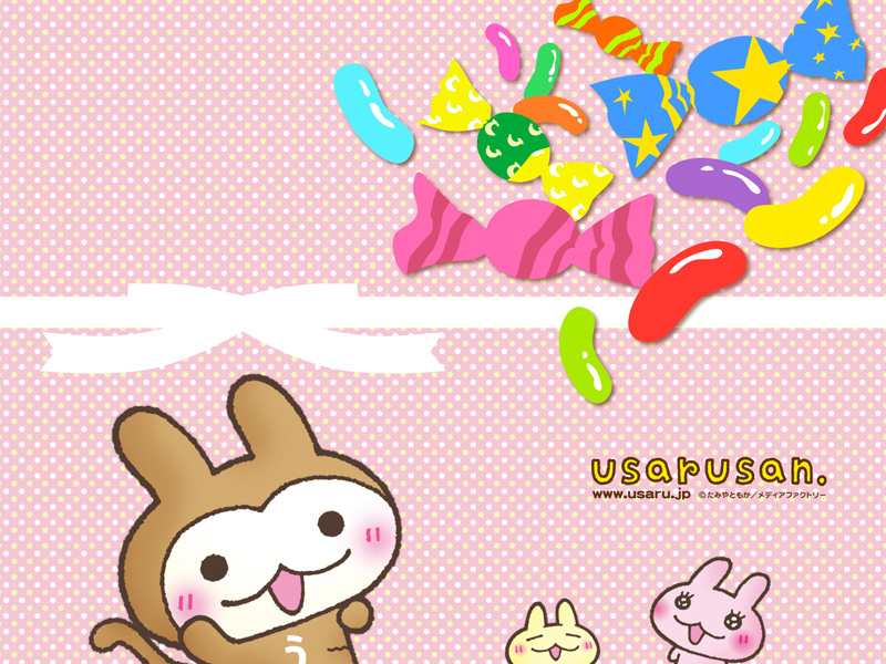 Free Download Wallpaper With Cute Candy And White Dotts