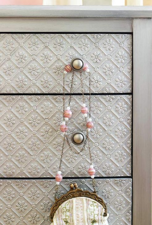 Re do drawers with dimensional wallpaper tutorial and 45 BEST Shabby 492x727