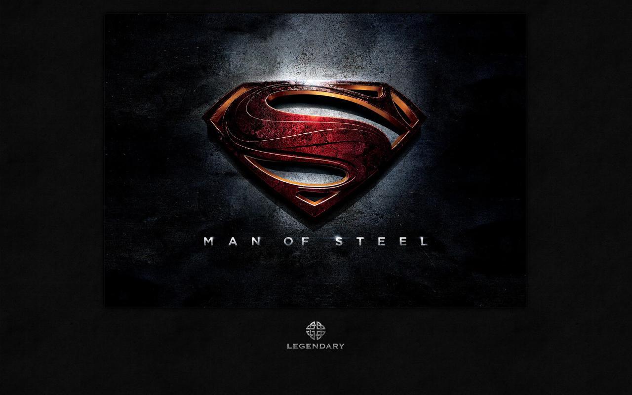 Man of Steel Logo Wallpaper   Superman Images Gallery 1280x800
