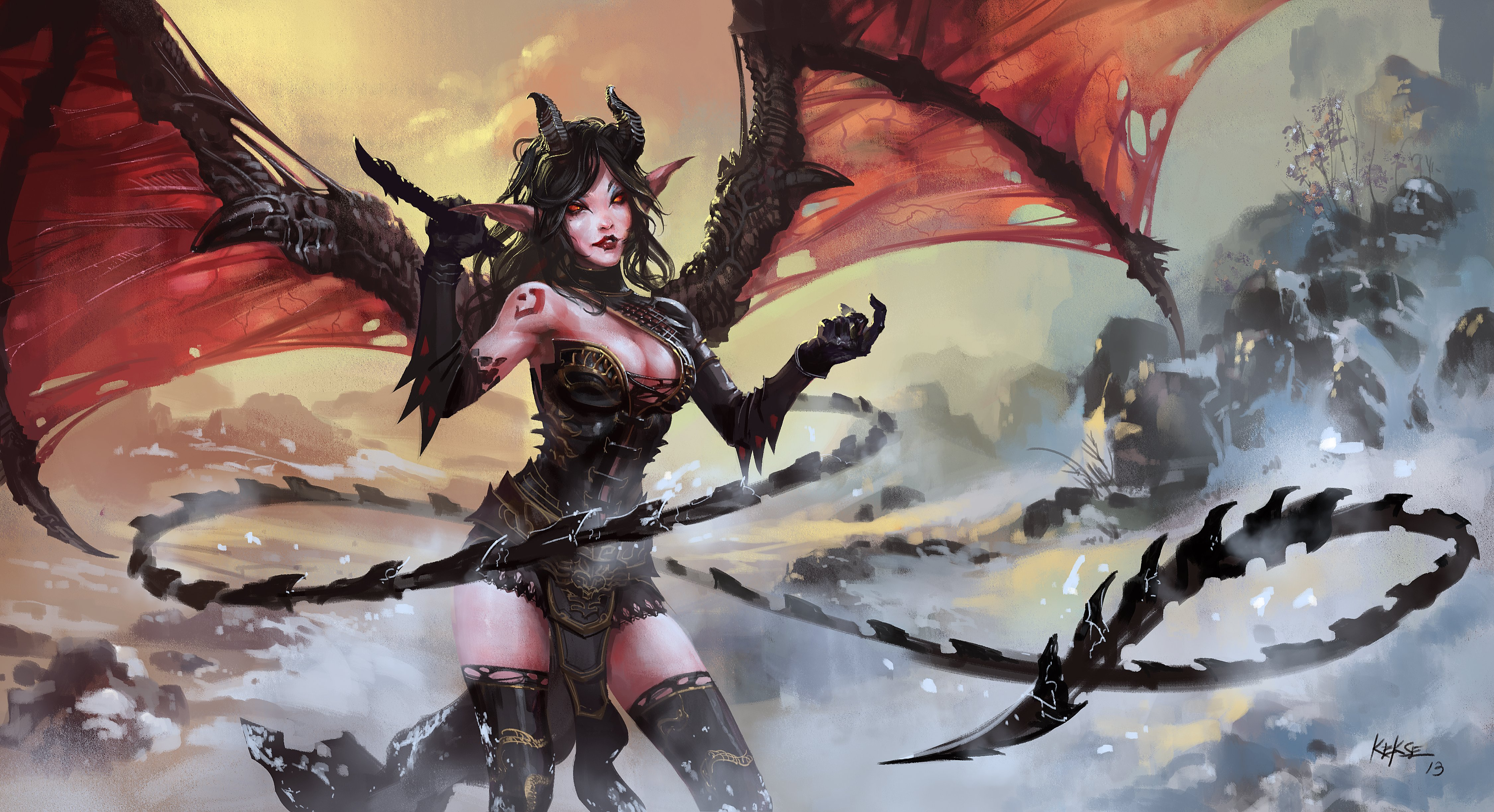 Succubus Computer Wallpapers Desktop Backgrounds 4500x2447 ID 4500x2447