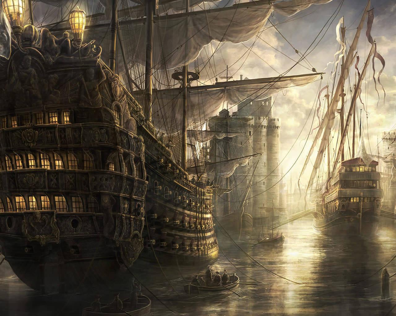 tall ships 1280x1024