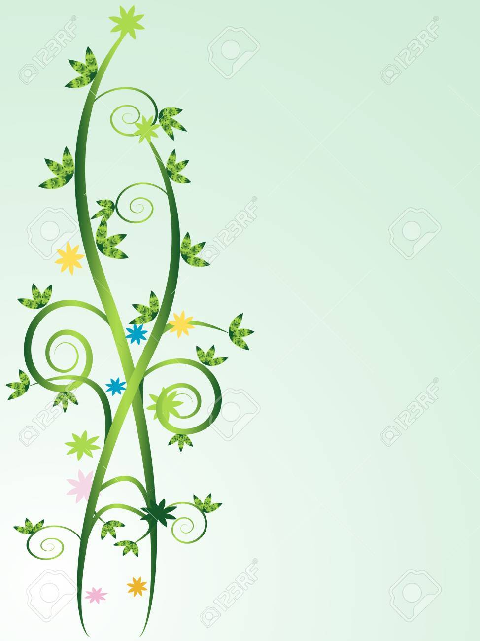 Floral Vines Background With Space To Insert Your Own Text Royalty 974x1300