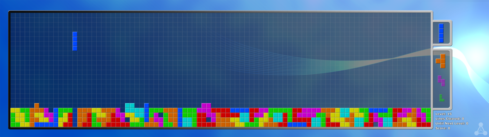 Zero Points   Tetris Dual Monitor Wallpaper by AlpheusRGB on 1685x474