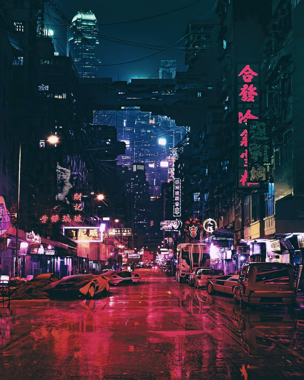 Cyberpunk Futuristic City Science Fiction Concept Art 4k in 2020 1000x1250