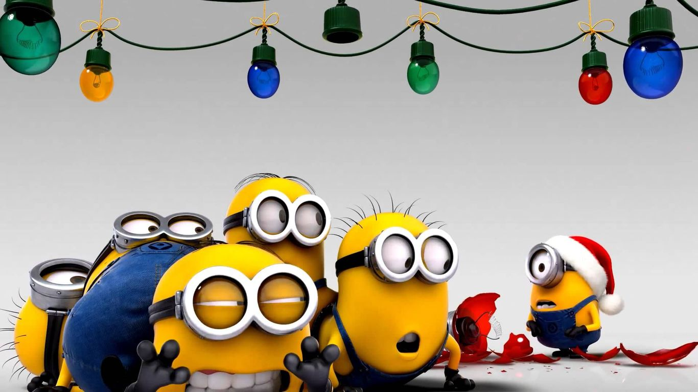 Funny Minion Merry Christmas Wallpapers Sayings: Minions Wallpaper 1366 X 768