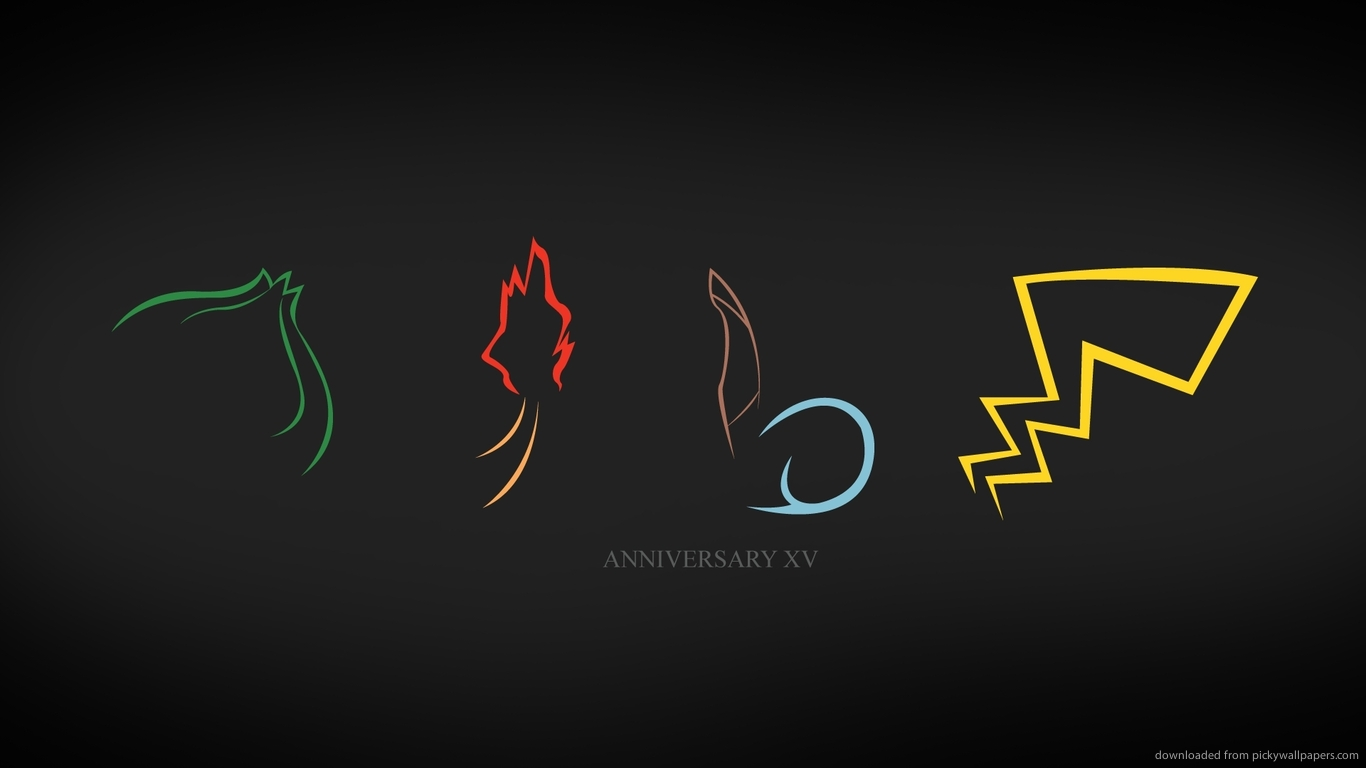 Pin Download 1366x768 Pokemon Xv Anniversary Wallpaper 1366x768