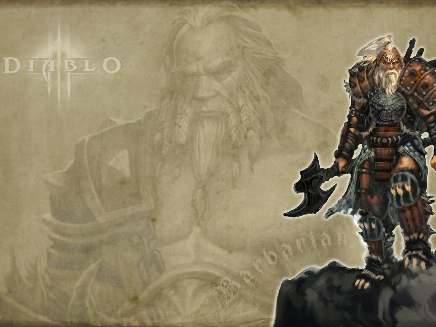 D3 Barbarian Wallpaper 1400x1050