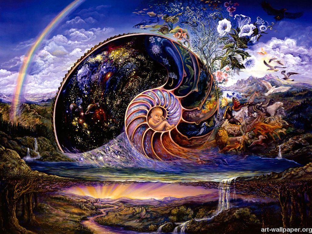 Josephine Wall Paintings Print Poster Art Wallpaper 1024x768