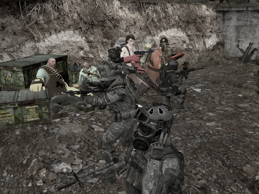 US Army Rangers and RED secure a BLU Uranium Depot image   Garrys 1024x768