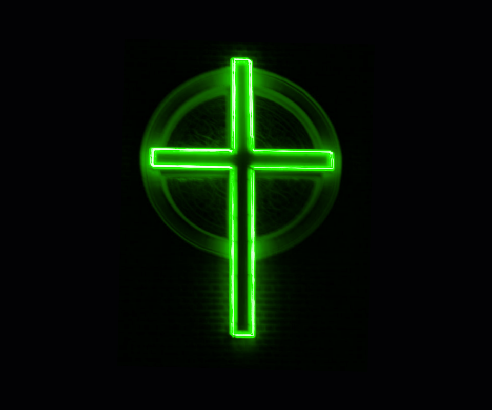 Download Neon cross   Daily new wallpapers Mobile Version 960x800