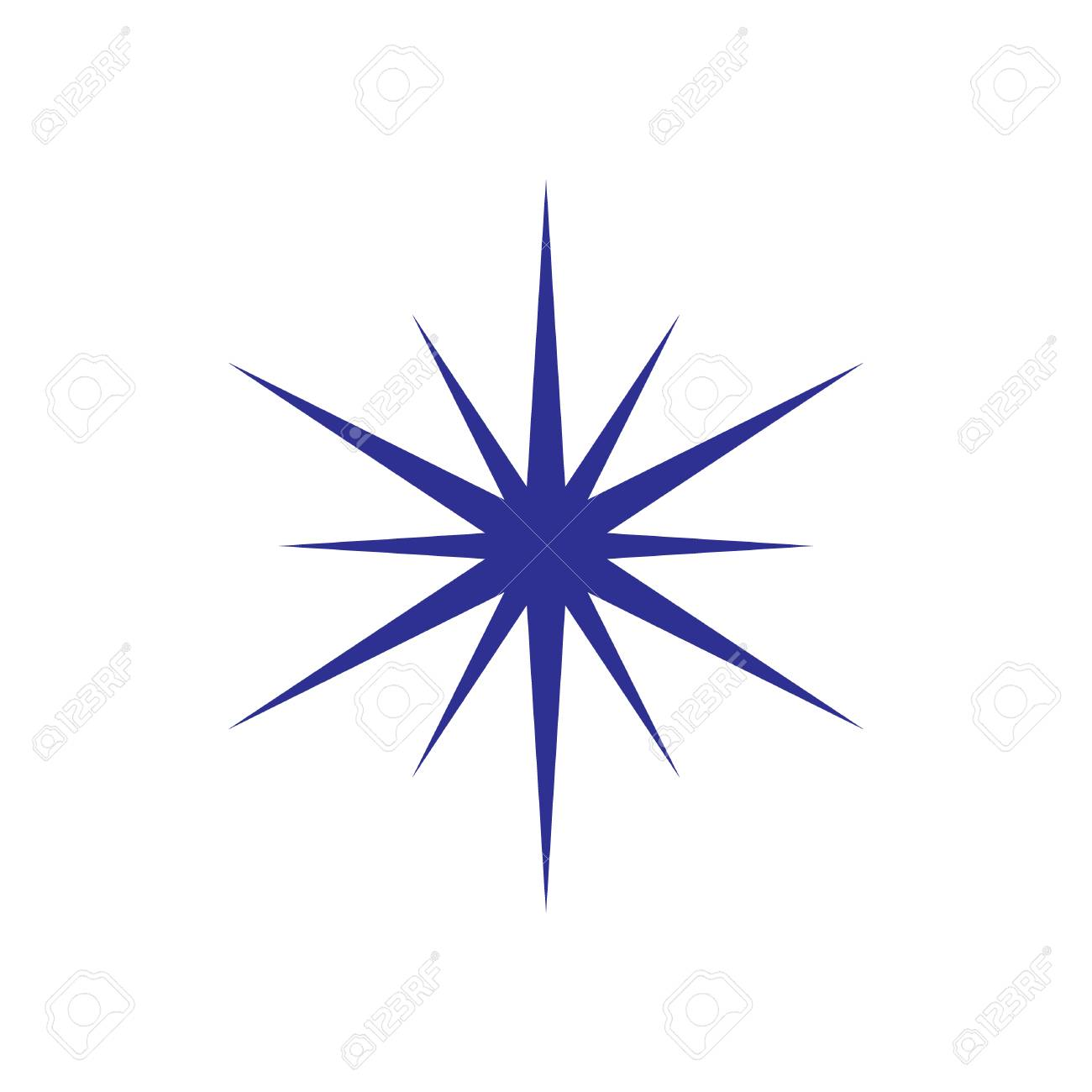 Simple Star Compass Needle Element Design On The White Background 1300x1300