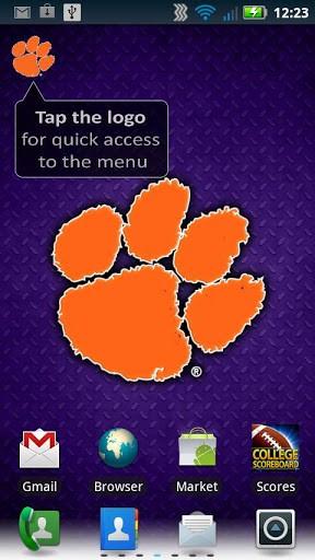 View bigger   Clemson Revolving Wallpaper for Android screenshot 288x512