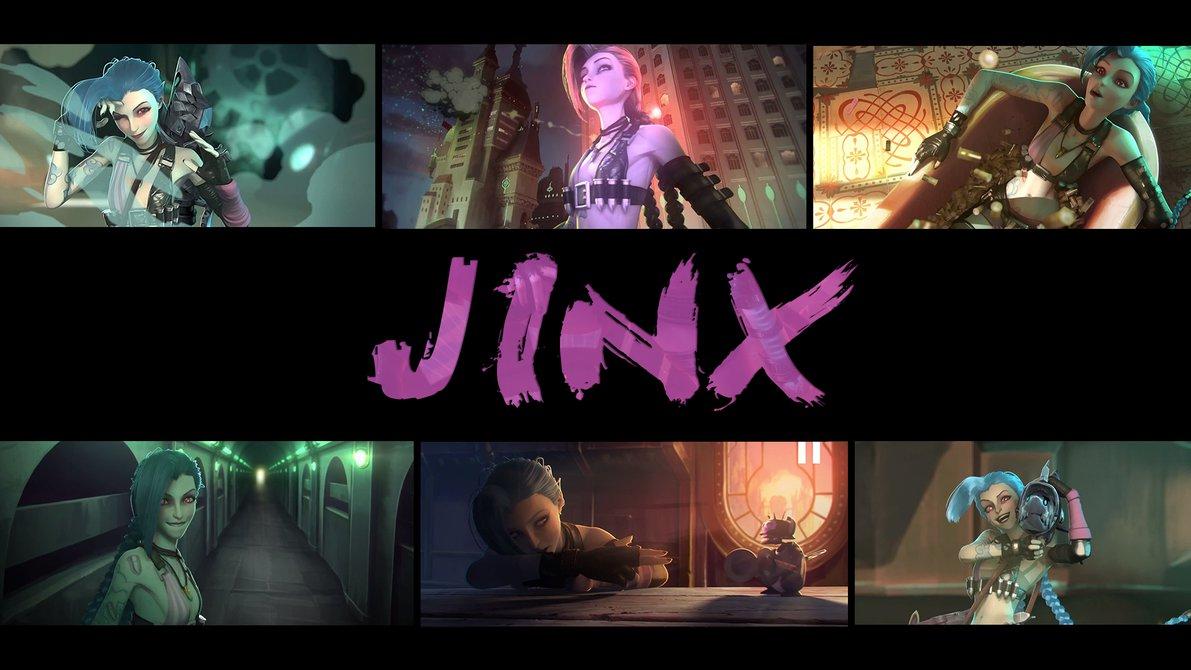 Wallpaper Jinx League of Legends by RikkuTenjouSs 1191x670