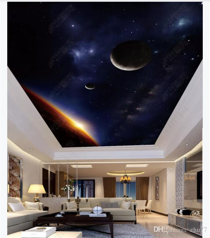 Custom 3D Photo Background Ceiling Silk Material Zenith Mural HD 725x822