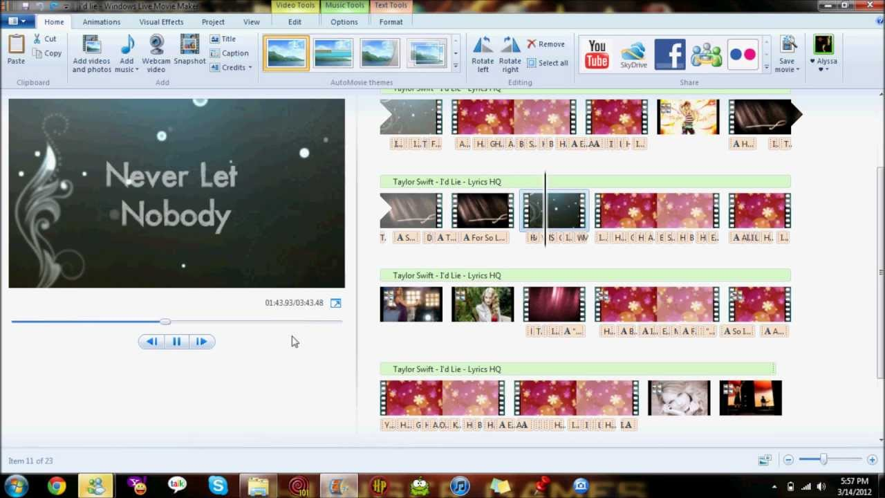 Lyric Video Maker HD Photo Wallpaper Collection WALLPAPERS 1280x720