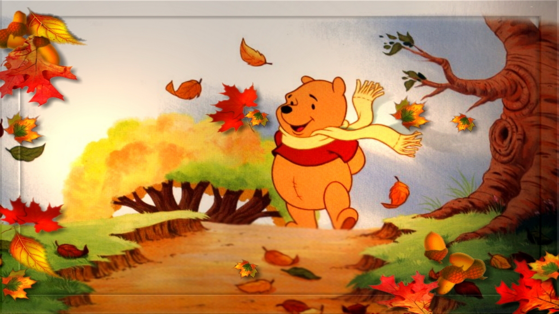 Winnie the Pooh Fall Wallpaper - WallpaperSafari