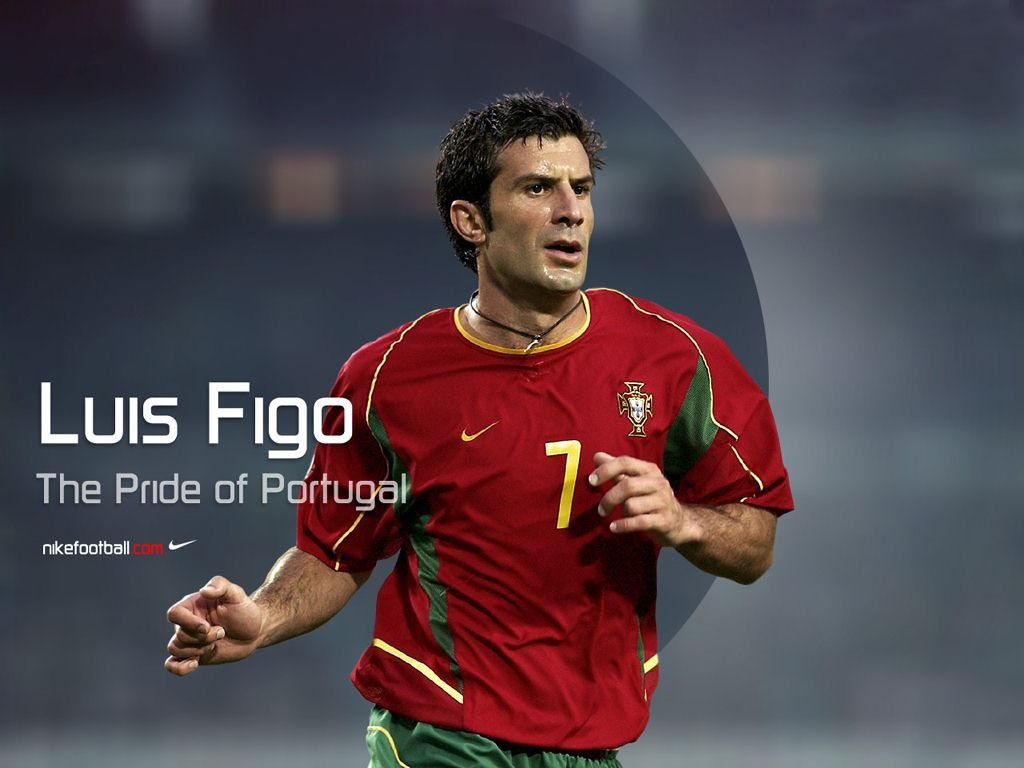 Luis Figo   The pride of Portugal Have his jersey Famous people 1024x768