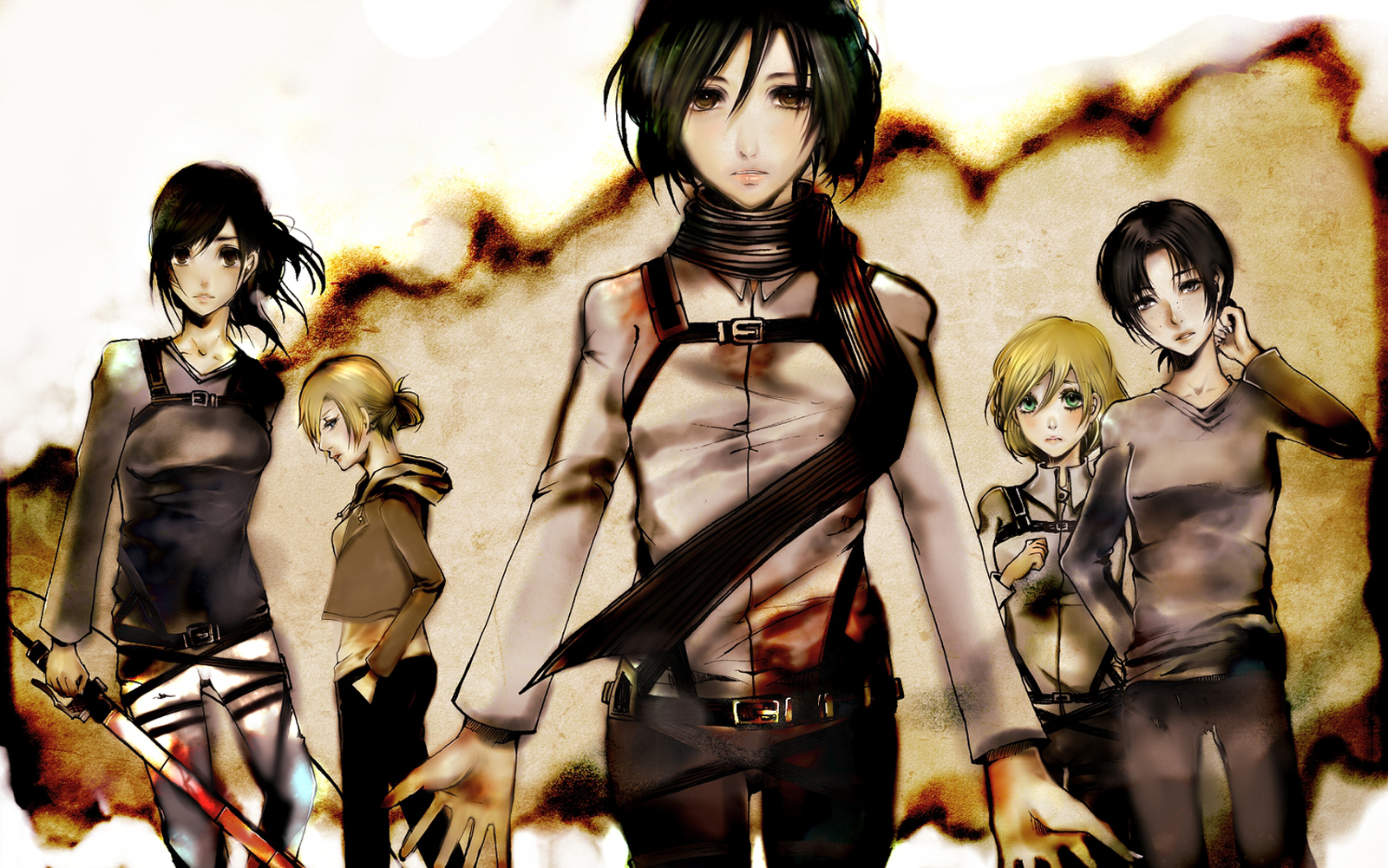 Attack on Titan Shingeki no Kyojin Sasha Browse Mikasa Ackerman Annie 1600x1001