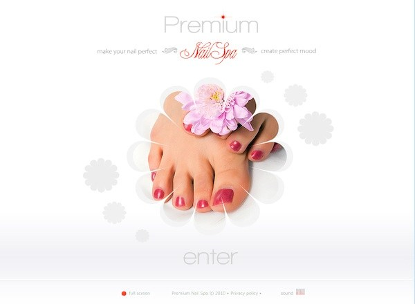 Nail Spa Website Template 600x440