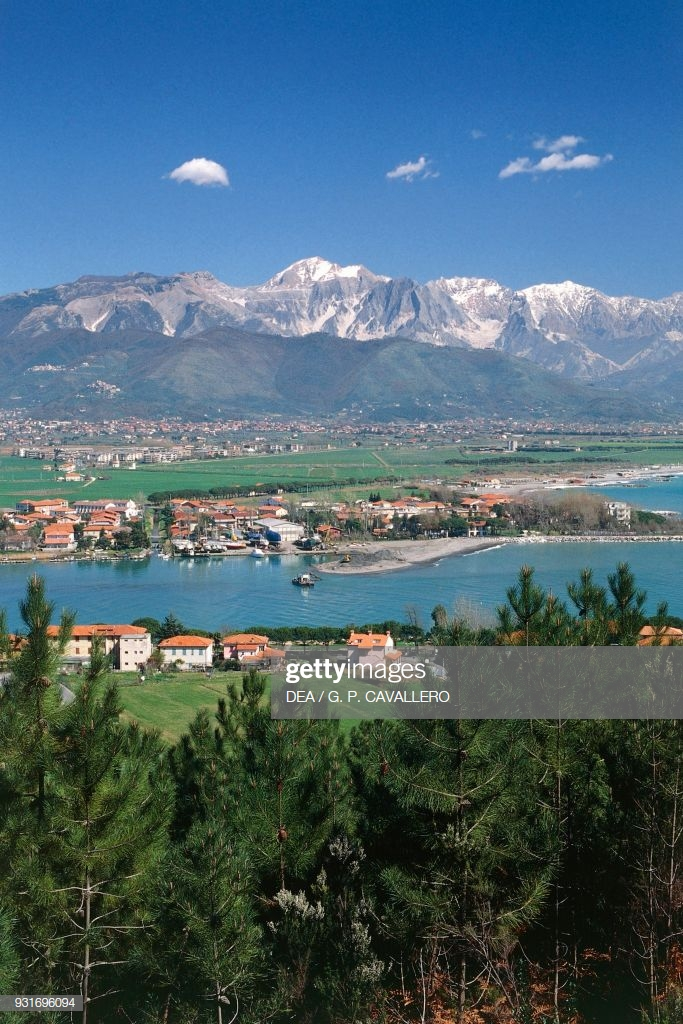 View of Bocca di Magra with the Apuan Alps in the background 683x1024
