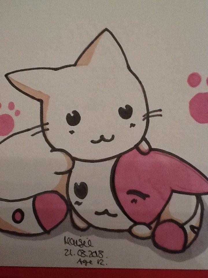 Cute Animal Anime Drawing 84731 Loadtve
