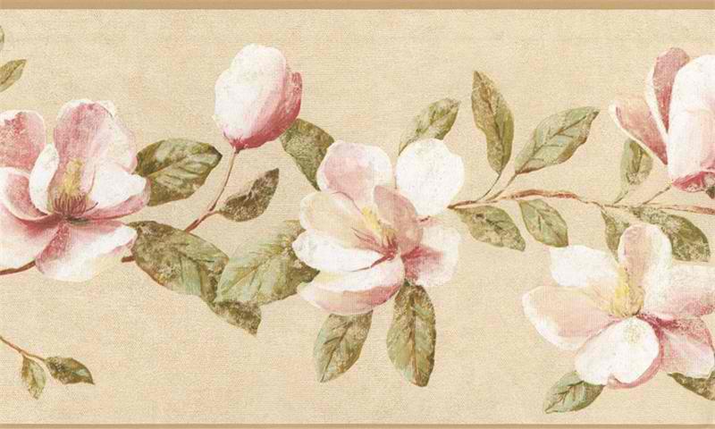 Magnolia Border Magnolia Border Powerpoint Backgrounds Template 800x480