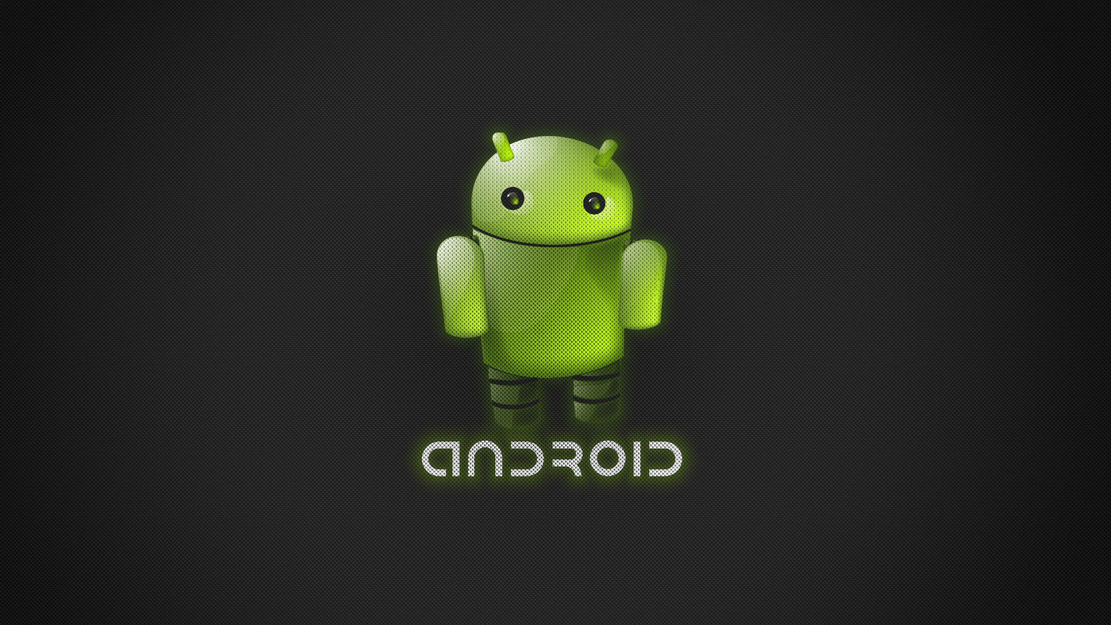 wallpaper 3840x2160 robot green android 4k ultra hd hd background