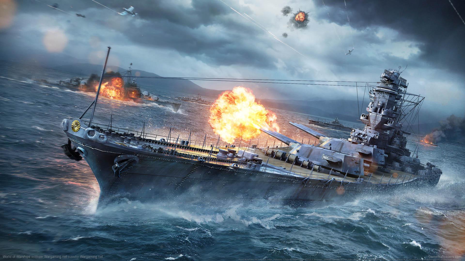 Обои для рабочего стола world of warships 1920x1080 скачать