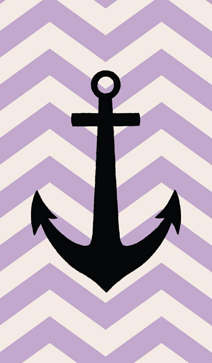 Black anchor on purple chevron Wallpapers Pinterest 736x1258