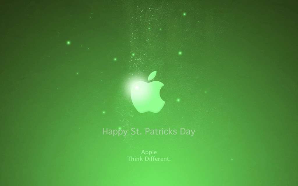 and fangirls will love this St Patricks Day desktop wallpaper 1024x640