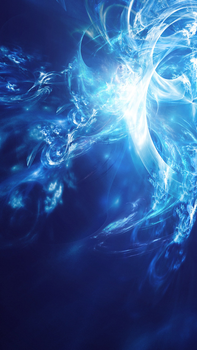 iPhone 5 wallpapers HD   Blue white abstract art Backgrounds 640x1136