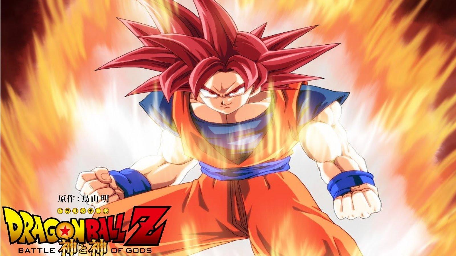 Free Download Dragon Ball Goku Super Saiyan God Wallpaper