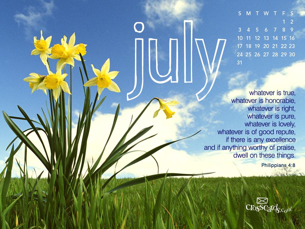 Wallpapers July 2011 Calendar Wallpaper   Daffodils Desktop 1024x768