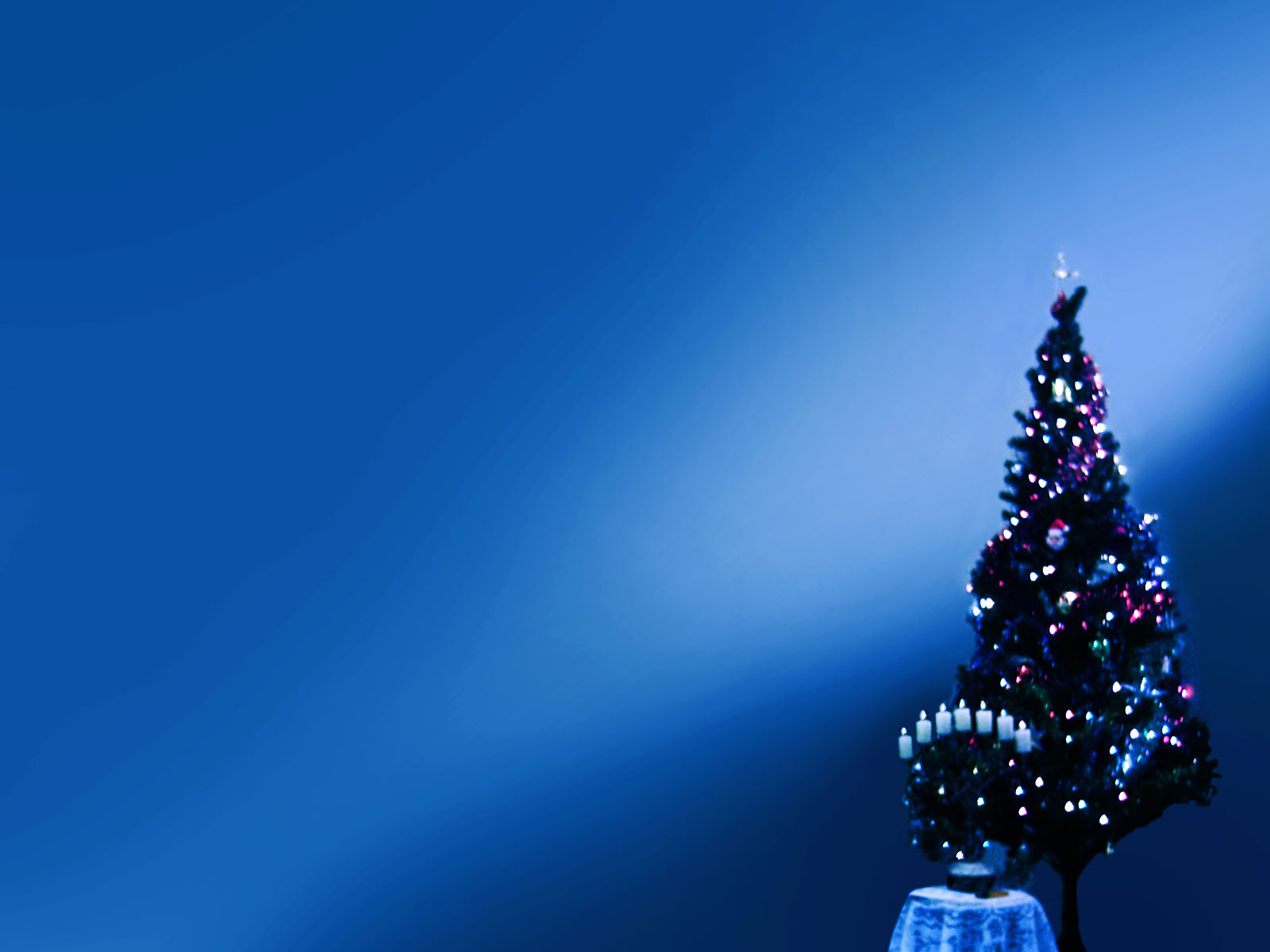 Night Christmas Theme for PowerPoint Background 1600x1200