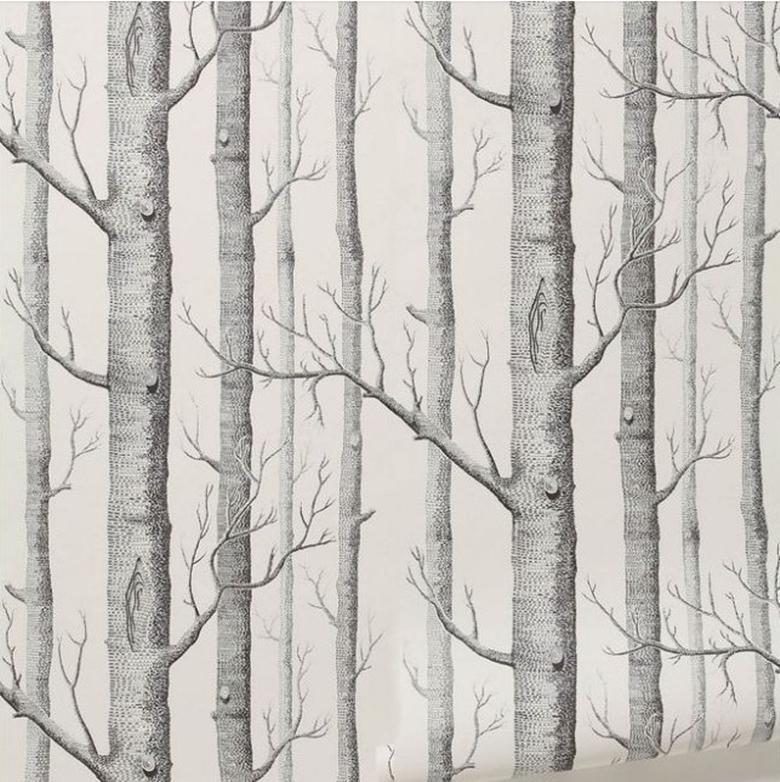 Vivid Art Wallpaper Roll Birch TreeBrick Stone Room Decor Textured 780x782