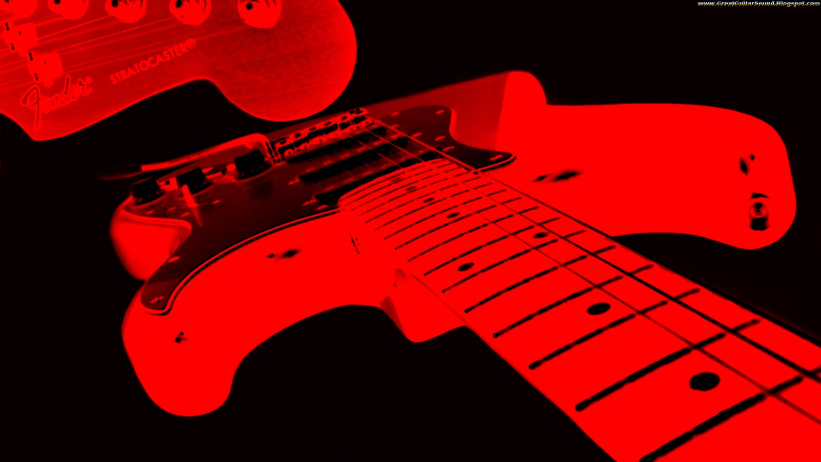 Red And Black Fender Stratocaster Electric Guitar Background HD Guitar 1600x900