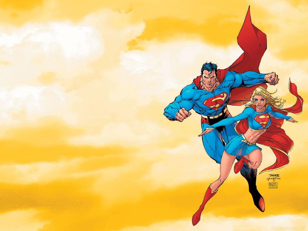 Superman Supergirl WallpaperOther ArtJim Lee Comic Art Community 1024x768