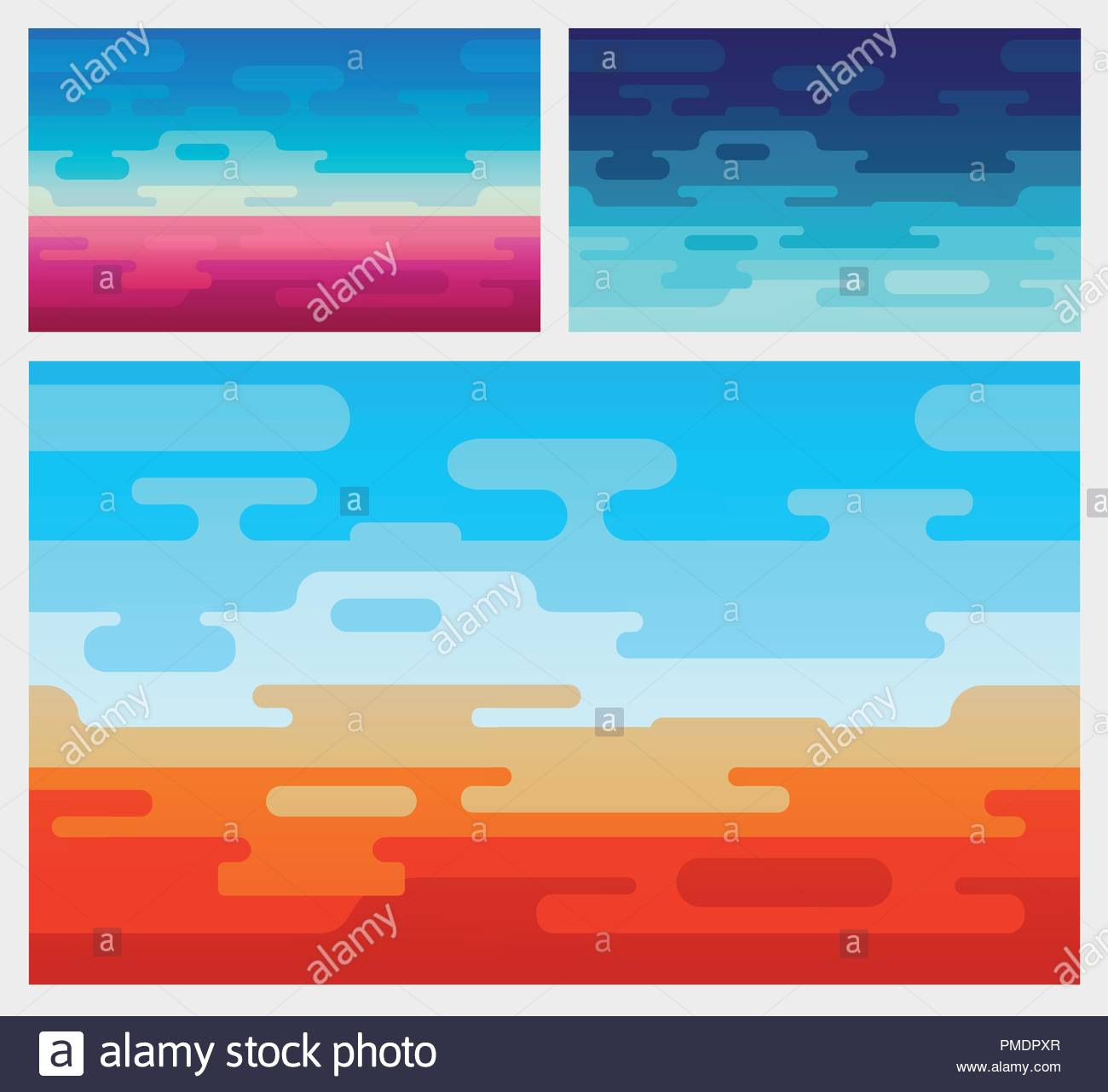 Set of Vector Background in Flat Style Backgrounds of Mars Red 1300x1281