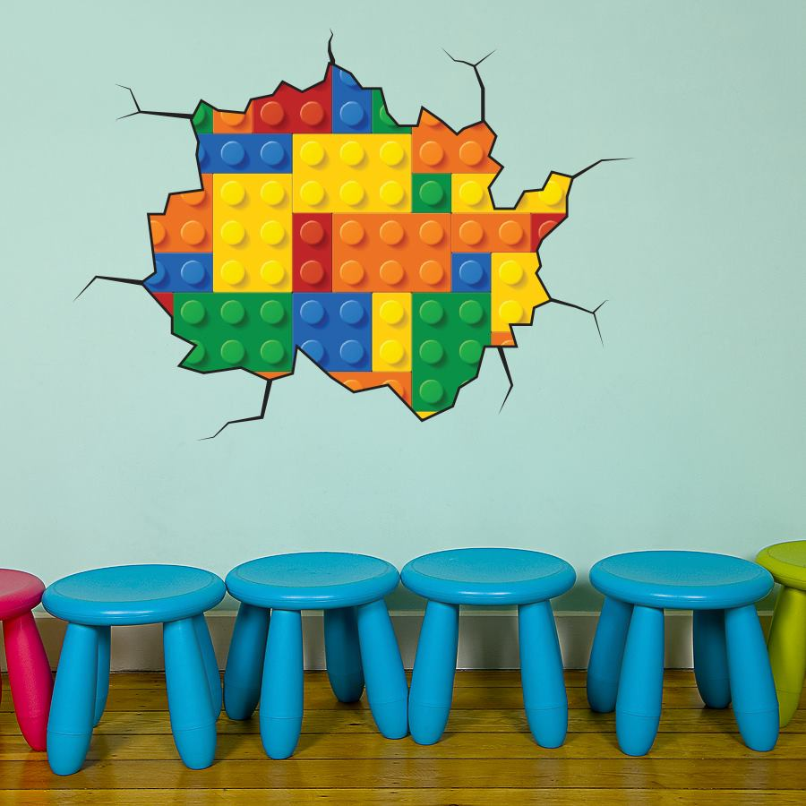 Details About Full Color Lego Wall Sticker Mural Decal Graphic Boys . Part 21