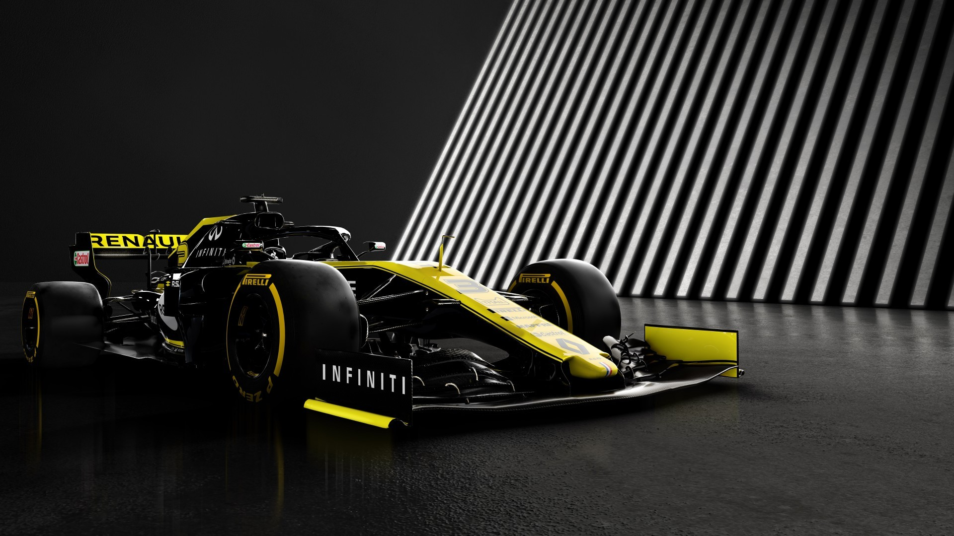 Download 1920x1080 Formula 1 Renault Rs19 Racing Cars Yellow 1920x1080