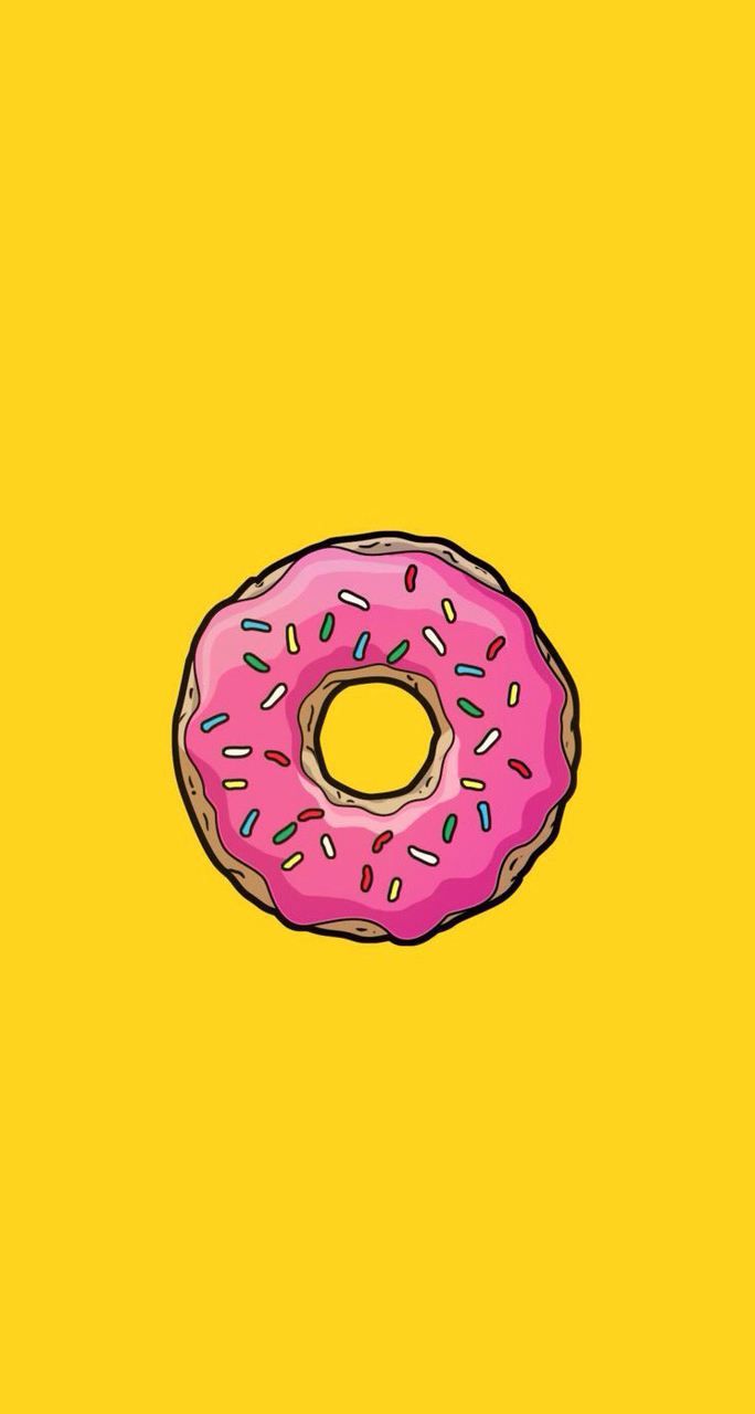 Yellow donut uploaded by Nicole Lai on We Heart It 684x1280