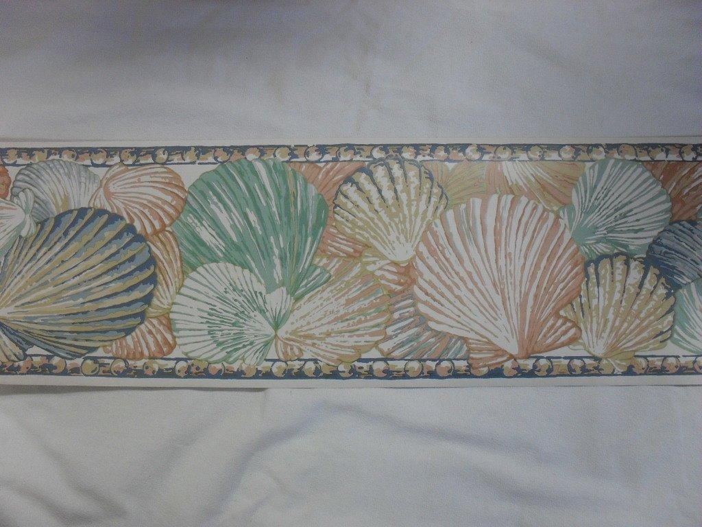 Shell Seashore Beach Design Wallpaper Border 1024x768