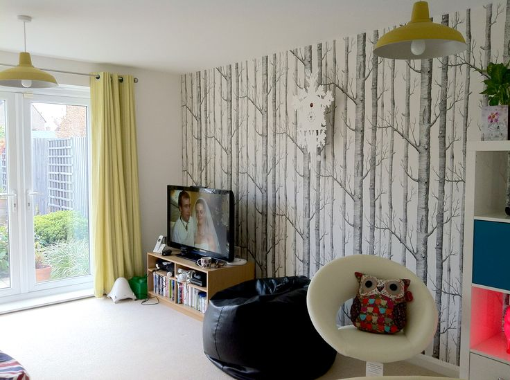 Cole and son birch trees wallpaper Hall Pinterest 736x549