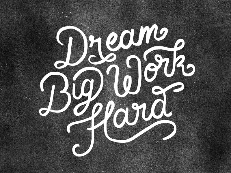 Dream Big Work Hard Wallpaper by Dina Rodriguez - Dribbble