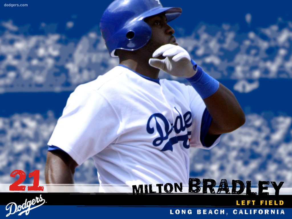 Desktop wallpaper for Left field Milton Bradley Baseball Los 1024x768